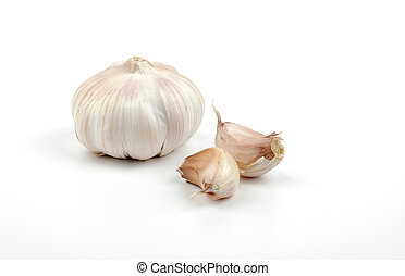 Garlic - Clove of garlic with buds