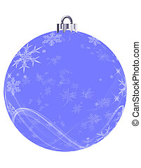 Blue Snowflakes Ornament