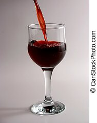 red wine glass - Filling a red glass of wine
