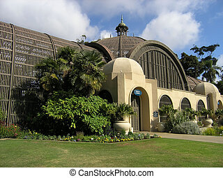 Conservatory Balboa Park - Conservatory building exterior,...