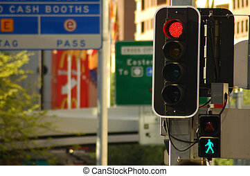 street city lights - detail photo of street traffic lights,...
