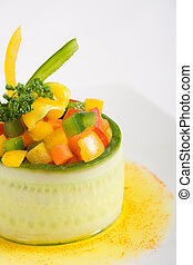 Vegetarian starter - A cucumber vegetarian starter with...