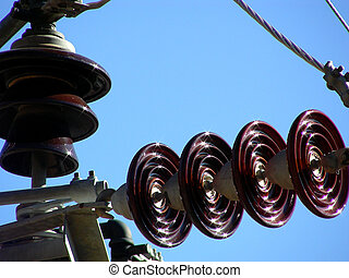 Energy Flashes - Ceramic insulators on high tension power...