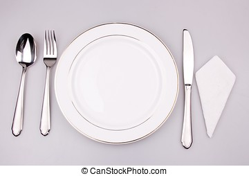 Place setting of a dinning set