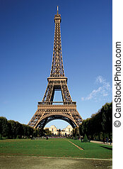 Eiffel Tower - The incredible Eiffel Tower in Paris on a...