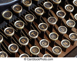 Old typewriter keys - Keys from an old dusty typewriter