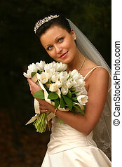 Beautiful bride - Beautiful the bride with a bouquet from...