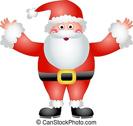 father Christmas - a jolly santa claus isolated on white...