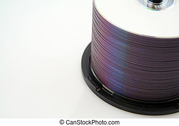 Spindle of DVDs