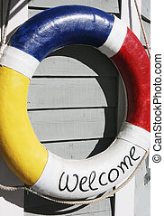Life buoy - Safety floation device with the words...