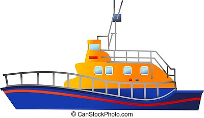 lifeboat - a lifeboat illustration isolated on white...