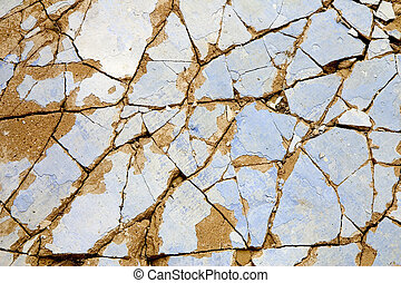 Broken wall - A close-up of an old broken wall