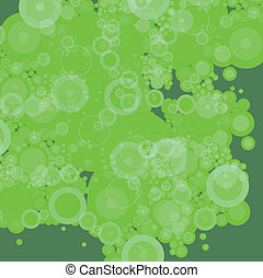 bubble green patchy dark