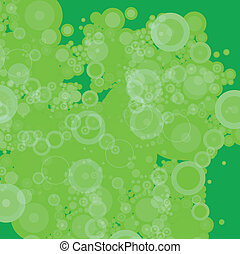 bubble green patchy