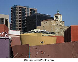 Urban Buildings, blue sky 2 - Urban Buildings, blue sky, San...