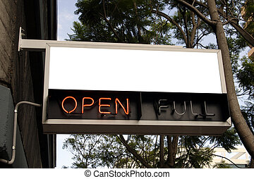 blank neon open - blank sign above neon