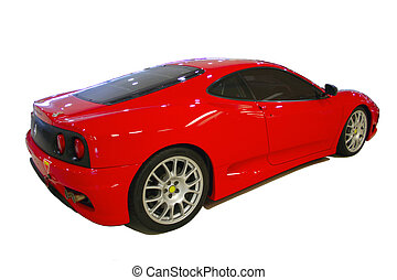 red sports car - bright red sports car with no logos with...
