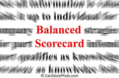 Balanced Scorecard - a conceptual image with the focus on...