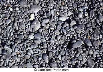 Stone Patterns - Patterns formed by volcanic pebbles at...