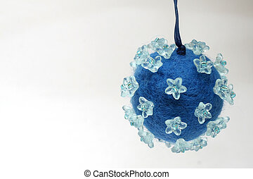 Christmas toy - Hand-crafted blue Christmas toy felt