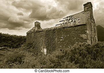 Abandoned house - An old derelict house somewhere in...