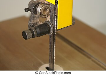 electric saw - a close up of an electric saw used for...