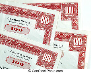 Red hundred shares certificates - Red common stock...