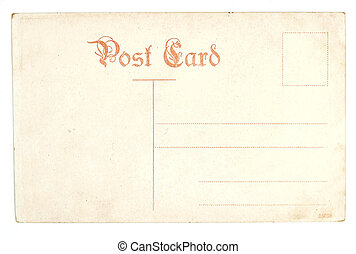 Old antique empty postcard - Vintage postcard. Collectible -...