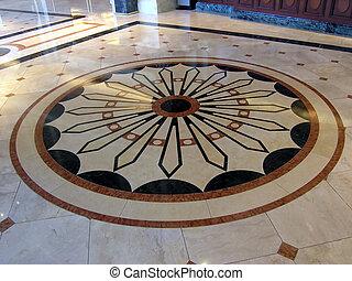 豪華, 旅館, 地板, 裝飾