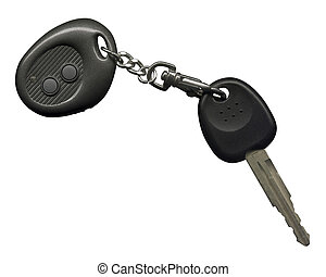 Car Key Sharp scan Include clipping path