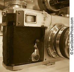 Beat Up Old Camera - -- with a rotating viewfinder and fixed...