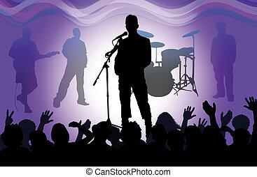 rock singer - rock concert,
