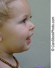 Tiny Boy Profile - Profile of a Baby boy after playing with...