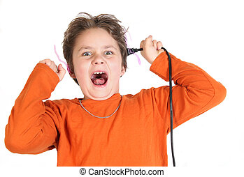 electricity - a child with to much electric energy.