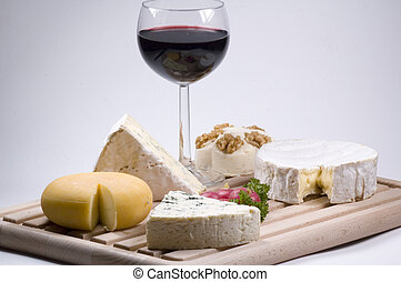 wine and cheese - french wine and french cheese a divine...