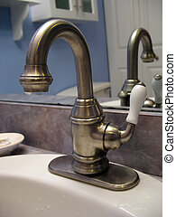 brushed nickel faucet - A really nice bathroom faucet -...