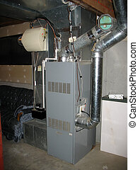 furnace - A shot of a modern furnace: a great HVAC-related...