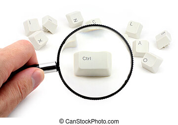 control key and magnifier - magnifier and control key,...