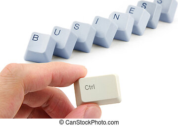 concept of business success - letter keys close up, concept...