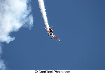 Aerobatics - Monoplane doing acrobatics