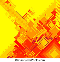 ebb flow red square - An abstract image used to reflect the...