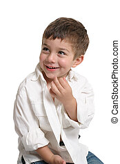 Toddler with beautiful smile - Beautiful young boy with a...