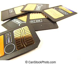 Memory cards lot - A few smartmedia type memory cards for...