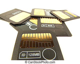 128 mb memory cards - A few smartmedia type memory cards for...