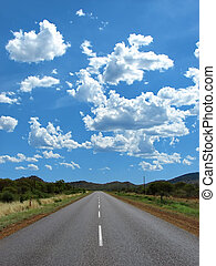 highway road - empty highway between the hills