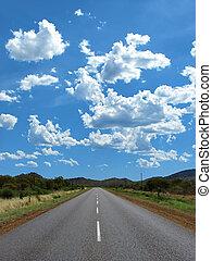 highway road - empty highway between the hills