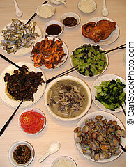 Chinese Food - Food from a Chinese table