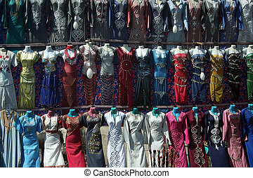 Belly Dance Costumes - A bazaar stall selling belly dance...