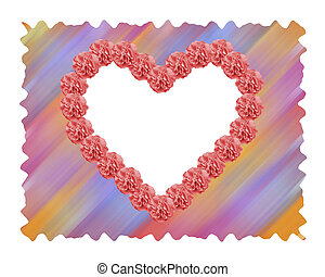 Rose Heart - Red Rose heart background for valenties day