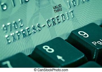 crédito, cartão, verificação
